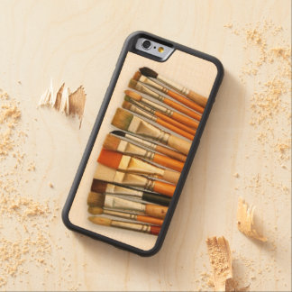 Artist Paint Brushes Carved® Maple iPhone 6 Bumper