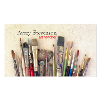 Artist Paint Brushes Painter Art Instruction Double-Sided Standard Business Cards (Pack Of 100)