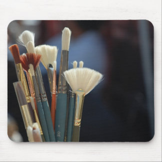 Artist Paint Brushes Photo Mouse Pad