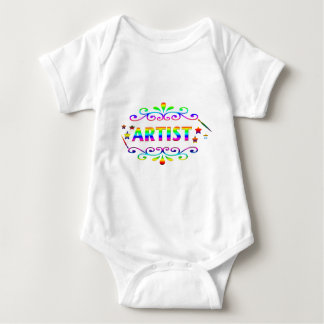 Artist Paintbrush and Design Baby Bodysuit
