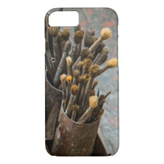 Artist Paintbrushes in Old Rusty Tin Cans iPhone 7 Case