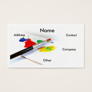 Artist Painter Business Card