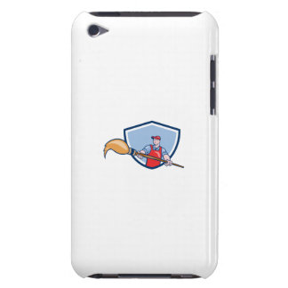 Artist Painter Giant Paintbrush Crest Cartoon Barely There iPod Case