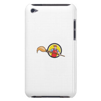 Artist Painter Holding Paintbrush Circle Cartoon Barely There iPod Cover