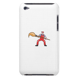 Artist Painter Standing Giant Paintbrush Cartoon Barely There iPod Case