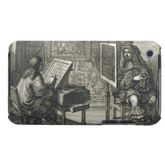 Artist painting a portrait over a grid for accurat barely there iPod case