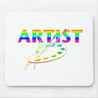 ARTIST PALETTE AND PAINT MOUSE PAD