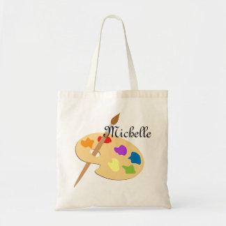 Artist Palette Canvas Bag