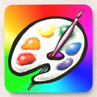 Artist Palette Beverage Coaster