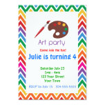 Artist Palette Birthday Party Personalized Invite