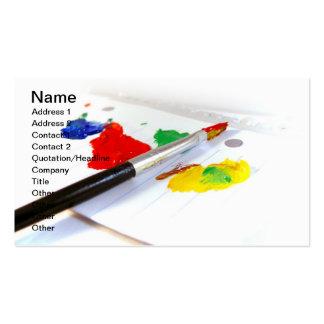 artist palette business card