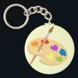 "Artist Palette Keychain<br><div class=""desc"">Great for art students,  teachers,  classes,  accomplished artists... . Personalize it by clicking &#39;customize&#39;</div>"