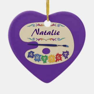 Artist Palette on Purple Ornament