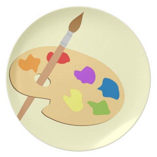Artist Palette Plate
