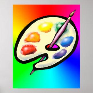 Artist Palette Poster
