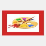Artist Palette Rectangular Stickers