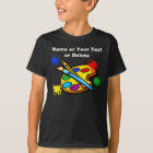 Artist Pallette Shirts for Kids with YOUR TEXT