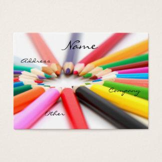 Artist Pencil Crayon Business Card