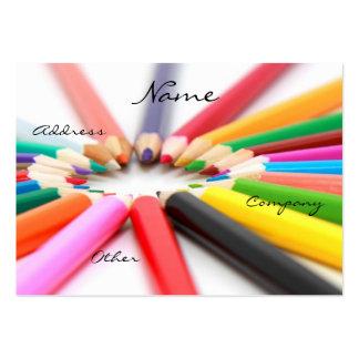 Artist Pencil Crayon Large Business Card