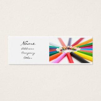 Artist Pencil Crayon Mini Business Card