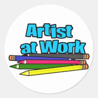 Artist Pencils Classic Round Sticker