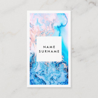 Artist Pink Watercolor Vertical Business Card