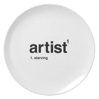 artist plate