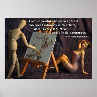 Artist Quote Queen Victoria Wooden Painter Model Poster