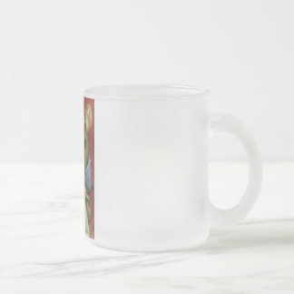 Artist rat frosted glass coffee mug