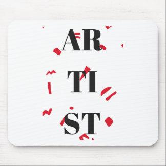 Artist Red Speck Design Illustration Text Mouse Pad