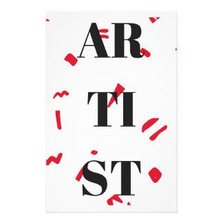 Artist Red Speck Design Illustration Text Stationery