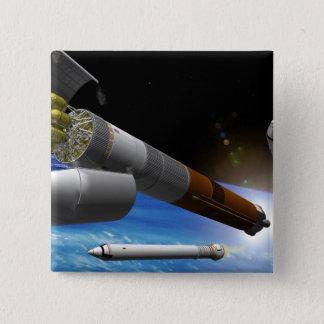 Artist rendition of a heavy-lift rocket button