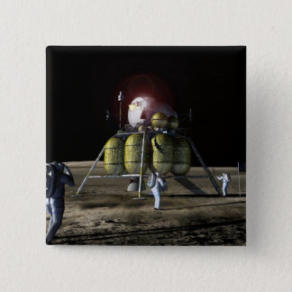 Artist rendition of a new spaceship to the moon 2 button