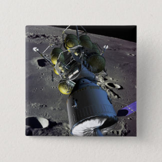 Artist rendition of a new spaceship to the moon button