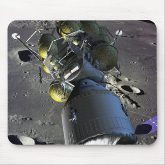 Artist rendition of a new spaceship to the moon mouse pad