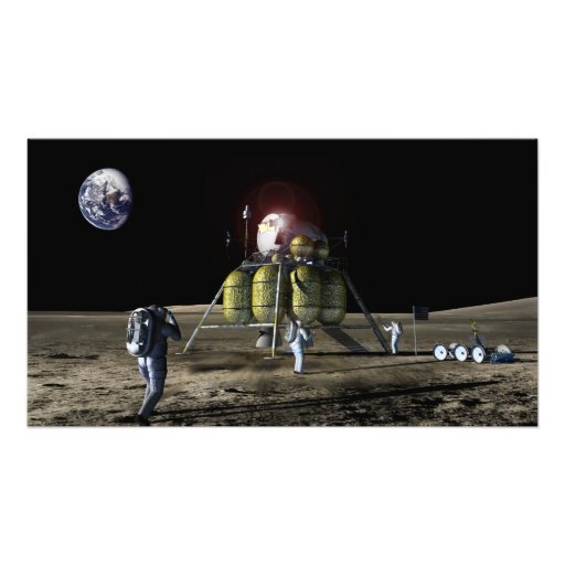 Artist rendition of a new spaceship to the moon photograph