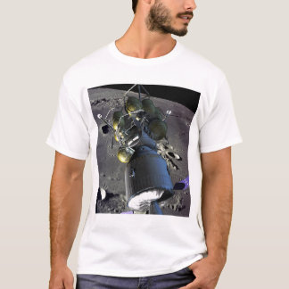 Artist rendition of a new spaceship to the moon T-Shirt