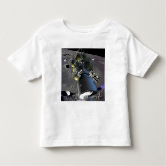 Artist rendition of a new spaceship to the moon toddler t-shirt