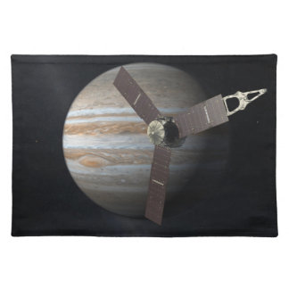 Artist rendition of JUNO orbiter at Jupiter Cloth Placemat