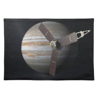 Artist rendition of JUNO orbiter at Jupiter Cloth Placemat