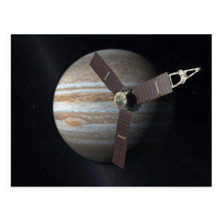 Artist rendition of JUNO orbiter at Jupiter Postcard