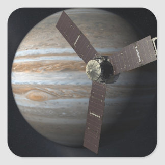 Artist rendition of JUNO orbiter at Jupiter Square Sticker
