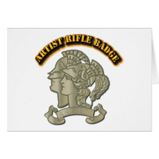 Artist Rifle Badge Greeting Card