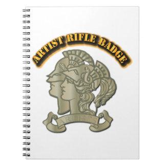 Artist Rifle Badge Spiral Notebook