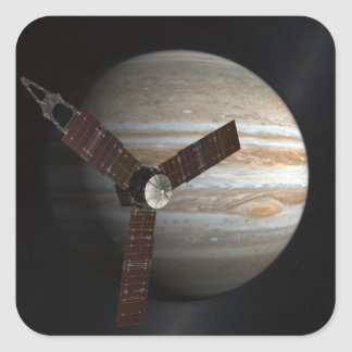 Artist s concept of the Juno spacecraft Square Stickers
