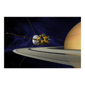 Artist s Conception of Cassini Saturn Orbit Insert Poster