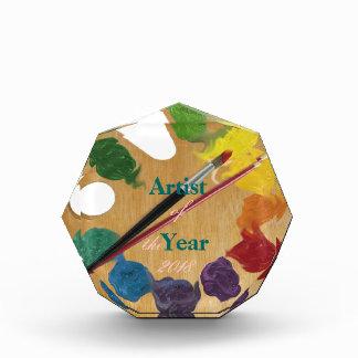 Artist`s palette color wheel award