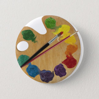Artist`s palette color wheel button