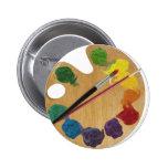Artist`s palette color wheel button