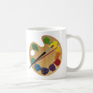 Artist`s palette color wheel coffee mug
